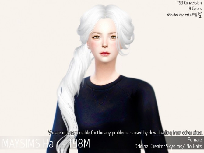 Sims 4 Hair 199F (Skysims) at May Sims