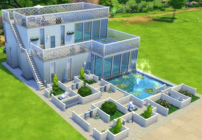 Aqua House By Bonensjaak At Mod The Sims 187 Sims 4 Updates