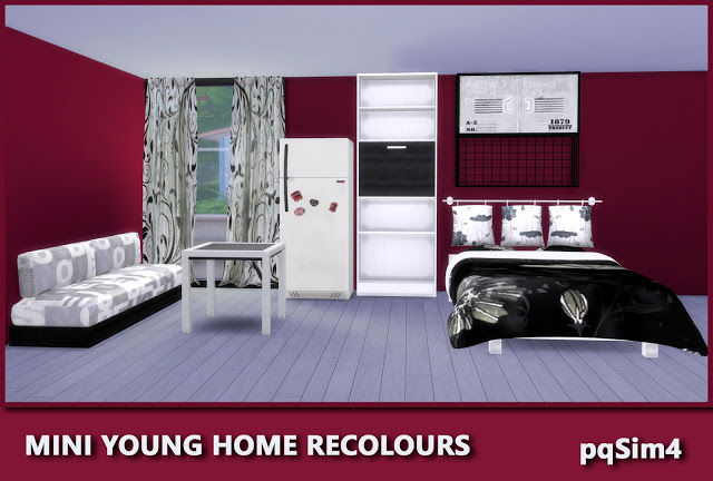 Sims 4 Mini Young Home Recolours by Mary Jiménez at pqSims4