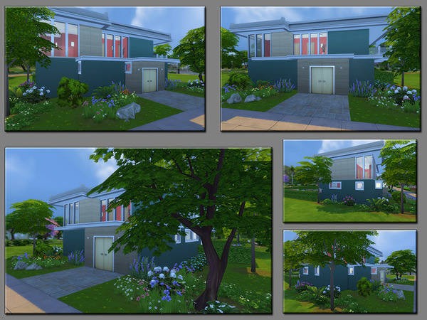 Sims 4 MB Stony Safehold house by matomibotaki at TSR