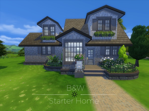 B&W Starter Home by madabb13 at TSR image 2625 Sims 4 Updates