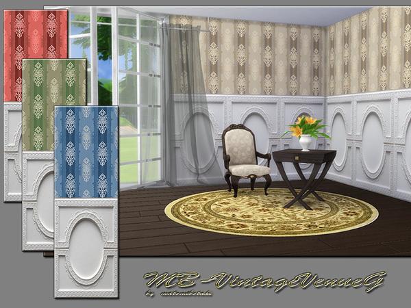 MB Vintage VenueG walls by matomibotaki at TSR image 2629 Sims 4 Updates