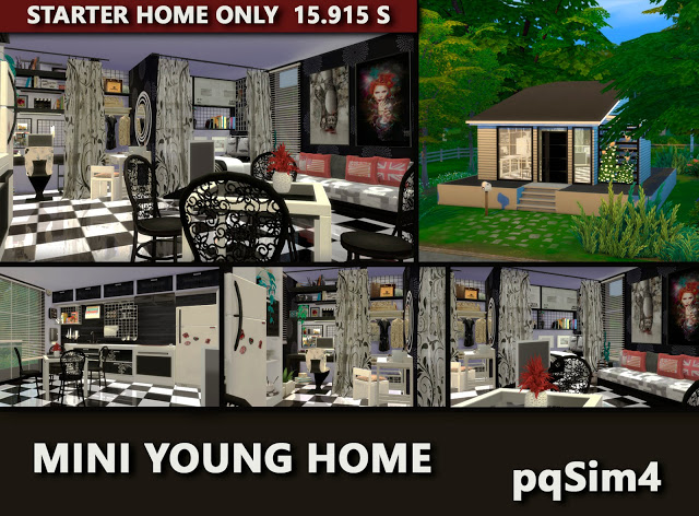Mini Young Home by Mary Jiménez at pqSims4 image 2631 Sims 4 Updates