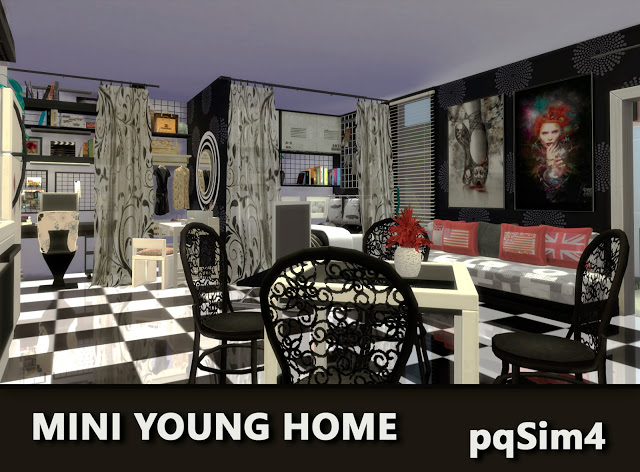 Mini Young Home by Mary Jiménez at pqSims4 image 2651 Sims 4 Updates