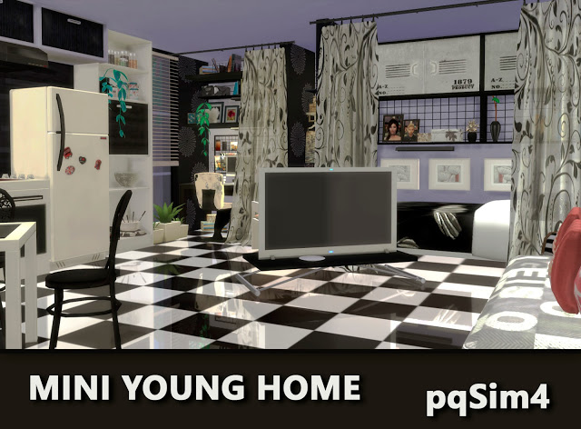 Mini Young Home by Mary Jiménez at pqSims4 image 2661 Sims 4 Updates