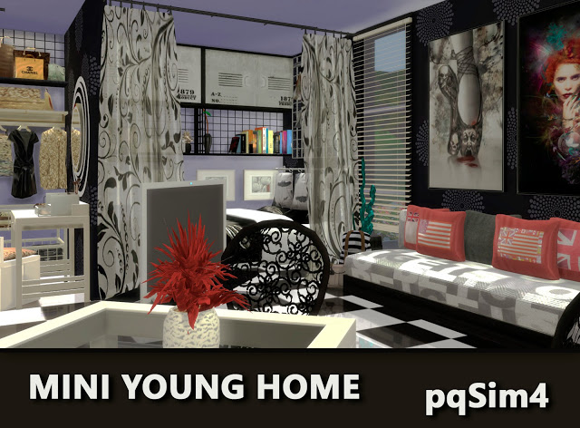Mini Young Home by Mary Jiménez at pqSims4 image 2681 Sims 4 Updates