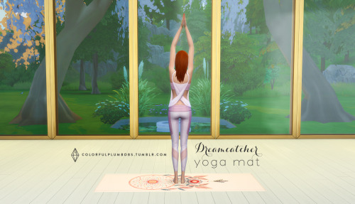 Sims 4 Dreamcathcer Yoga mat at Colorful Plumbobs