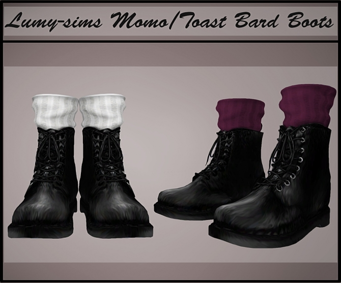 Toast Bard Boots At Lumy Sims 187 Sims 4 Updates
