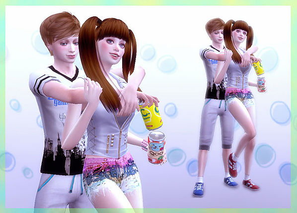 Sims 4 Can poses at A luckyday