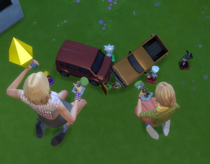 Sims 4 Car Crash Doll House by BigUglyHag at SimsWorkshop