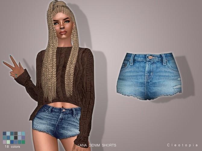 Sims 4 LANA denim shorts at Cleotopia