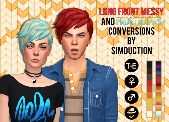 Sims 4 SP08 Long Front Messy Conversions at Simduction