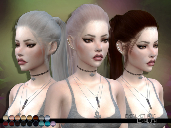 Everlast Hair by LeahLillith at TSR image 29 Sims 4 Updates