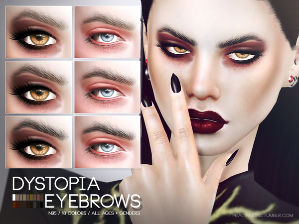 Dystopia Eyebrows N95 by Pralinesims at TSR image 290 Sims 4 Updates