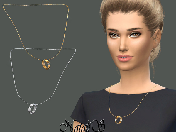 Wedding ring on a chain by NataliS at TSR image 2917 Sims 4 Updates