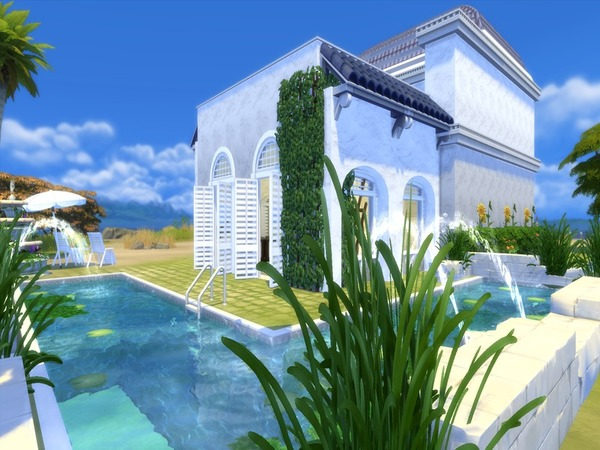Sims 4 Greek Breeze house by Suzz86 at TSR
