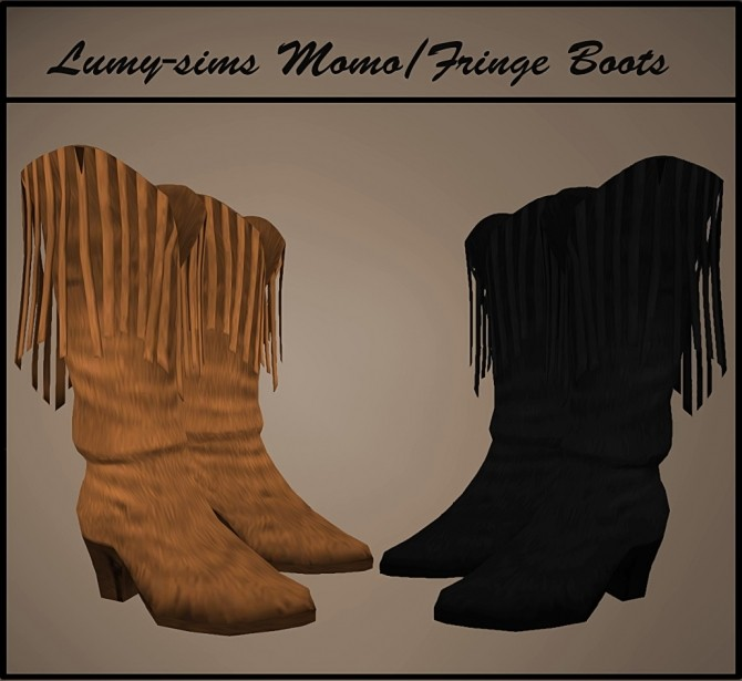 Fringe Boots at Lumy Sims image 2942 670x615 Sims 4 Updates