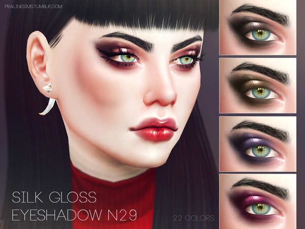 Sims 4 Silk Gloss Eyeshadow N29 by Pralinesims at TSR