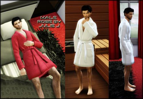 Sims 4 Male Robe Shorter at Julietoon – Julie J