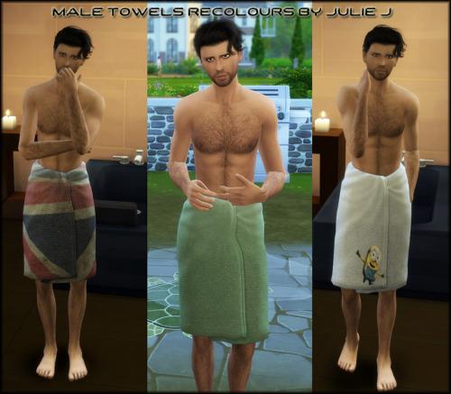 Sims 4 Male Towels Recolours at Julietoon – Julie J