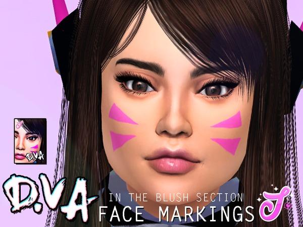 Sims 4 D.Va Face Markings by SenpaiSimmer at TSR