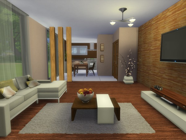 Luke living room by spacesims at tsr sims 4 updates for Living room ideas sims 3