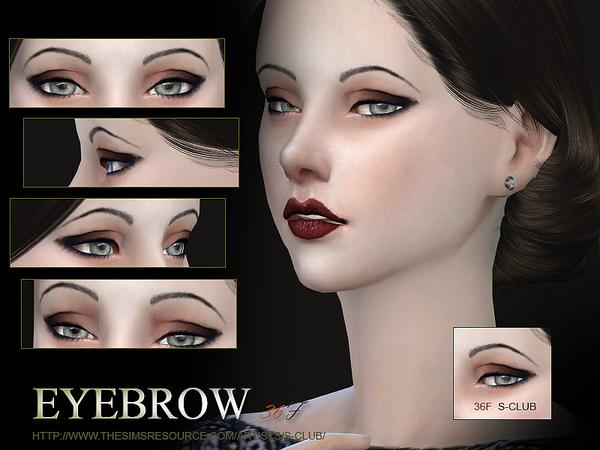 Sims 4 Eyebrows 36 F by S Club WM at TSR