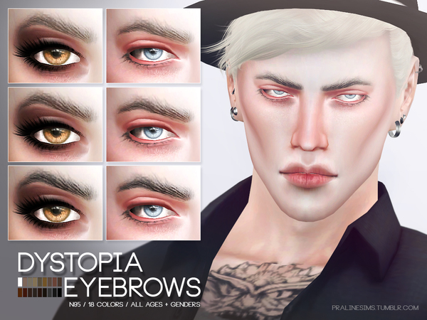 Sims 4 Dystopia Eyebrows N95 by Pralinesims at TSR
