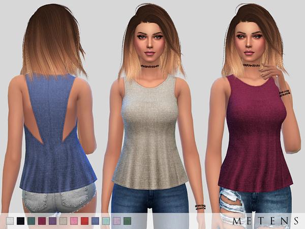 Sims 4 Luna Top by Metens at TSR