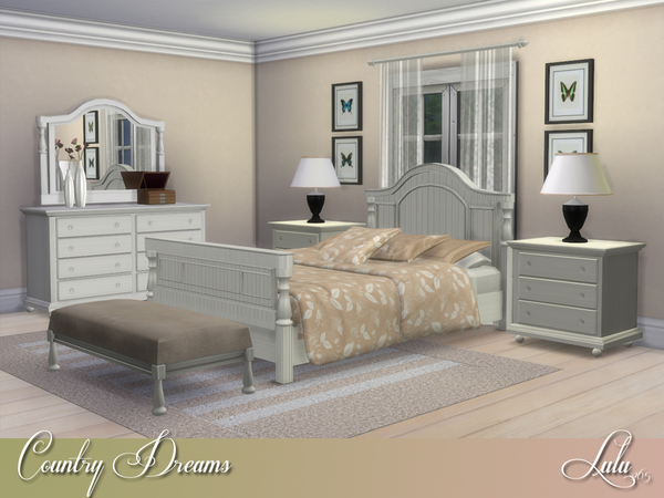 Country Dreams Bedroom By Lulu265 At Tsr 187 Sims 4 Updates