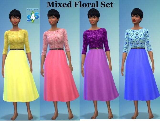 Sims 4 EP02 Skirtboat Female 7 Floral Patterns by wendy35pearly at Mod The Sims