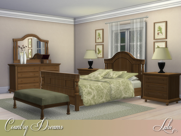 Country Dreams Bedroom by Lulu265 at TSR image 3316 Sims 4 Updates