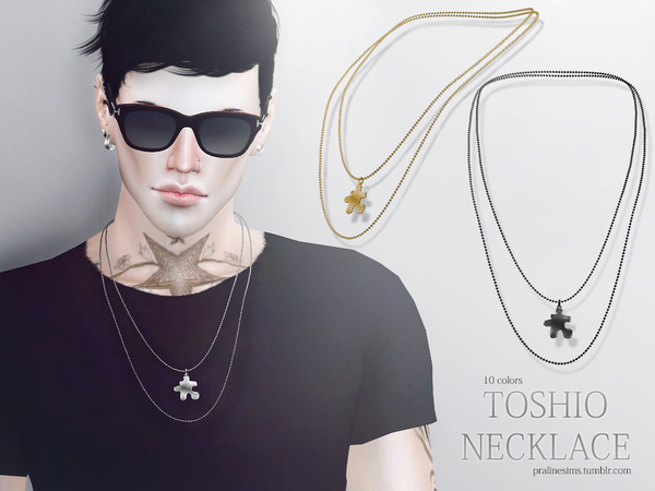 Sims 4 Toshio Necklace by Pralinesims at TSR