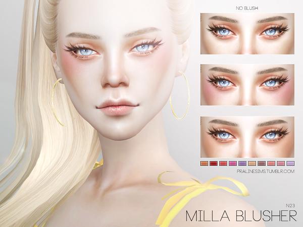 Sims 4 Milla Blusher N23 by Pralinesims at TSR