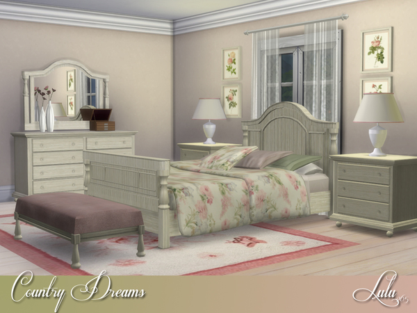 Country Dreams Bedroom by Lulu265 at TSR image 3416 Sims 4 Updates