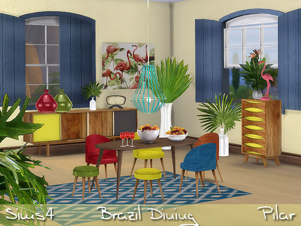 Brazil Dining by Pilar at TSR image 3420 Sims 4 Updates