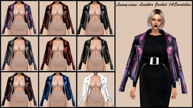 Sims 4 Oversized Leather Jacket at Lumy Sims