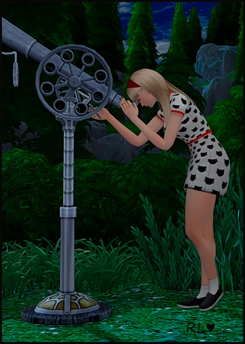 Sims 4 Looking at stars poses at Rethdis love
