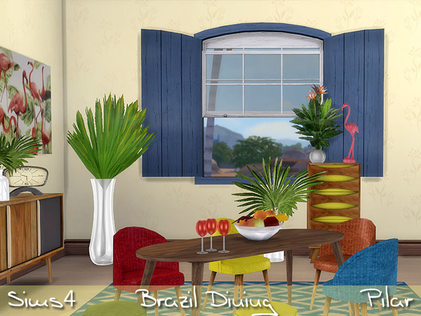 Brazil Dining by Pilar at TSR image 3519 Sims 4 Updates