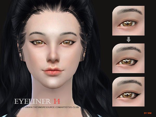 Sims 4 Eyeliner 14 by S Club WM at TSR