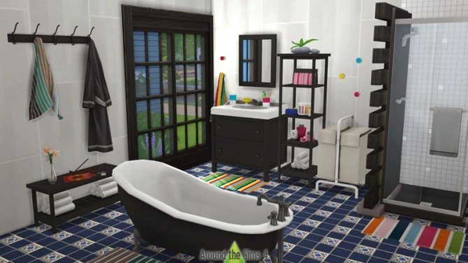 Sims 4 IKEA Bathroom by Sandy at Around the Sims 4