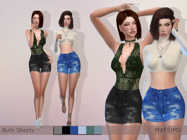 Sims 4 Ruth Shorts by mxfsims at TSR