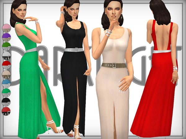 Sims 4 Tara Gown by DarkNighTt at TSR