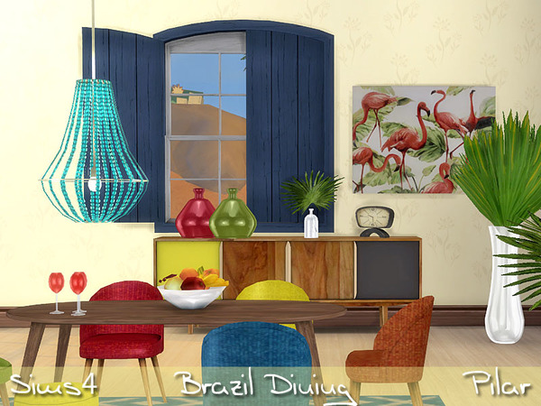 Brazil Dining by Pilar at TSR image 3620 Sims 4 Updates