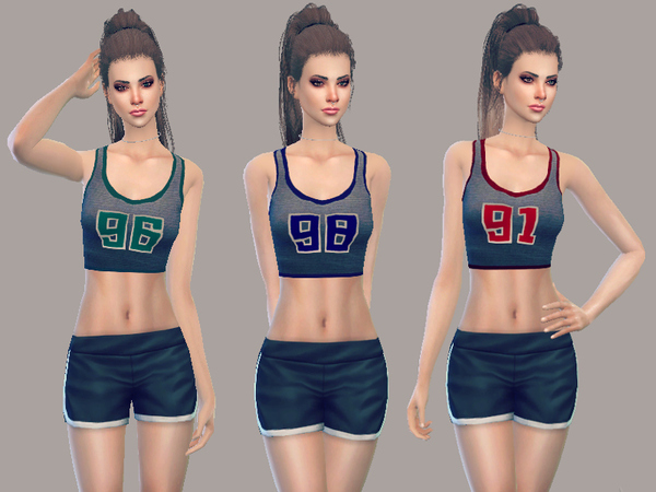 Sims 4 Sporty Crop Top by JulieBFMV at TSR