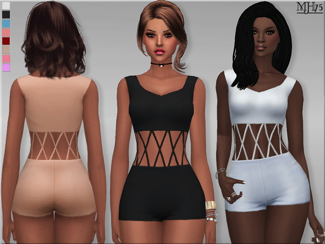 Hollow Romper by Margeh75 at Sims Addictions image 4010 Sims 4 Updates