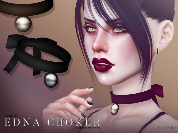 Edna Choker by Pralinesims at TSR image 4015 Sims 4 Updates