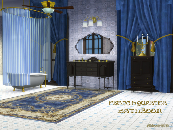 French Quarter Bathroom by ShinoKCR at TSR image 402 Sims 4 Updates