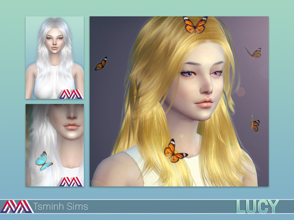 Lucy Hair 32 colors and acc. butterfly 7 textures by TsminhSims at TSR image 408 Sims 4 Updates