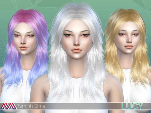 Lucy Hair 32 colors and acc. butterfly 7 textures by TsminhSims at TSR image 4111 Sims 4 Updates